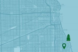 Google Map to The University of Chicago